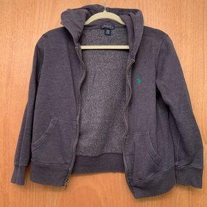 Polo Ralph Lauren Navy blue zip up hoodie